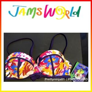 Jams World Bikini Top Small Nwt